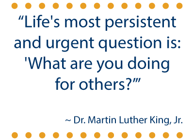 """Make MLK Day a """"Day ON"""" for Service 