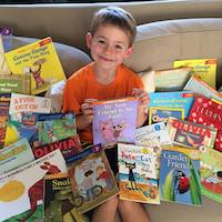Six-year-old shares his joy of reading with other kids