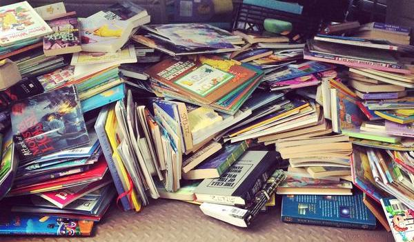 pile books hacks reading thrifty reader partners readingpartners