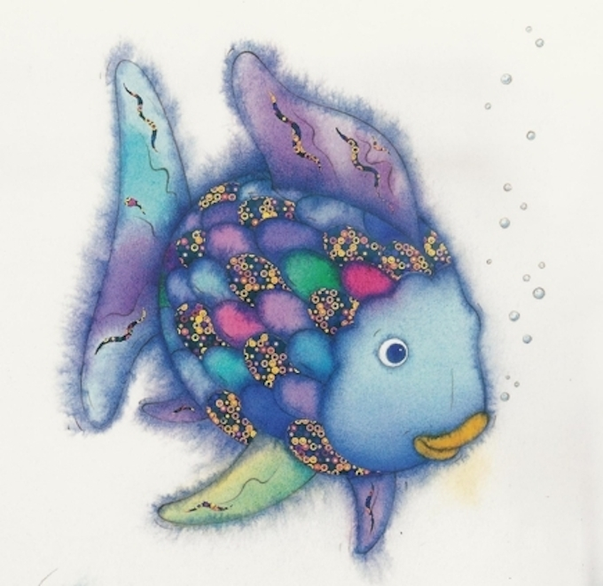 Diy literary halloween costumes reading partners for The rainbow fish by marcus pfister