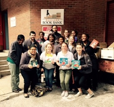 Volunteers at the Maryland Book Bank