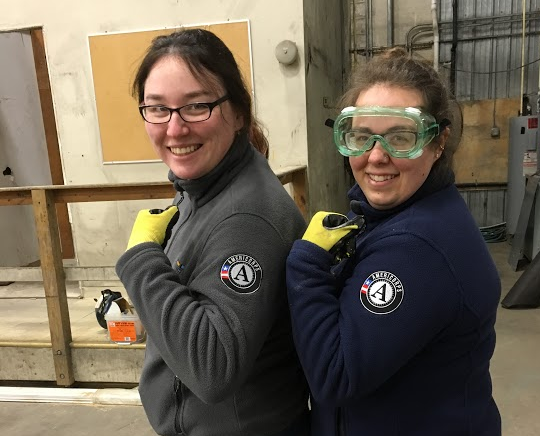 Two Baltimore AmeriCorps pose during their Day of Service