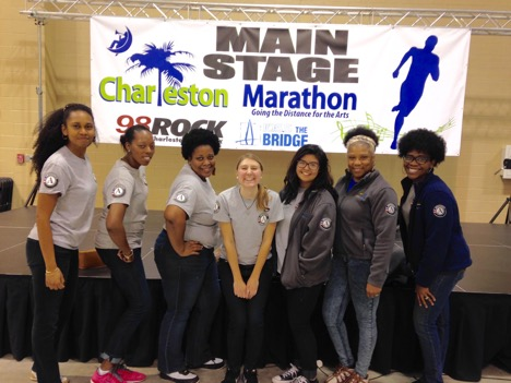 South Carolina AmeriCorps members at a local marathon