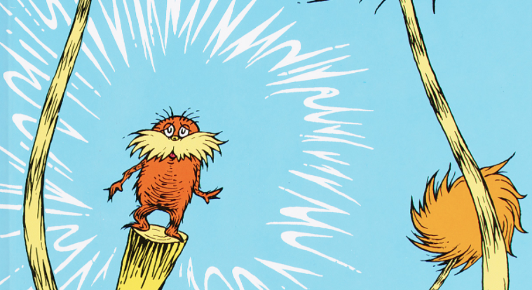 Dr. Seuss illustration from The Lorax