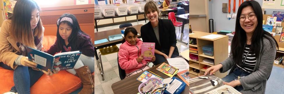 Volunteer tutors on Read Across America Day
