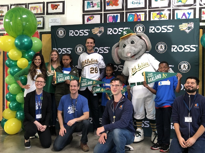 Reading Partners and Oakland A's